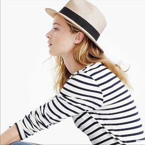 NWT J Crew Panama Hat Size S/M